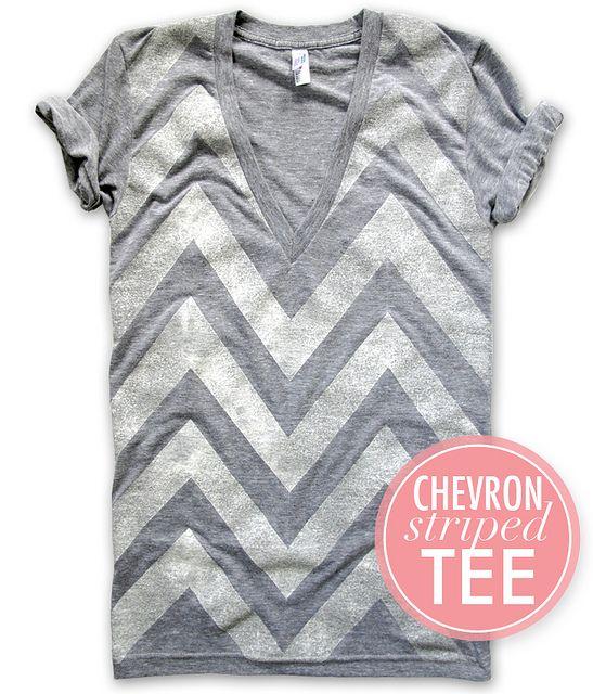 chevron stripe tee #DIY