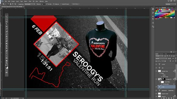 Designing a dig-scrap book for running races in Photoshop