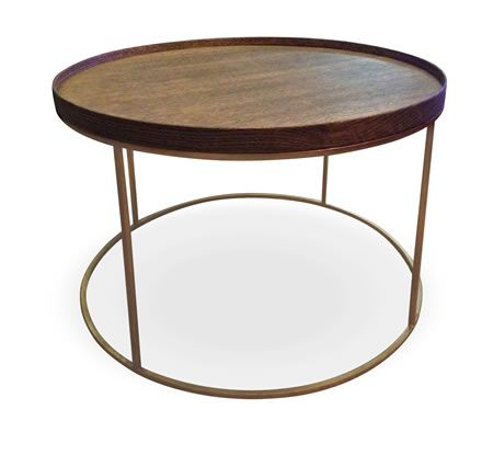 Product Products Round Tray Coffee Tables With A 40mm Wire Brushed Oak Veneer With Charcoal