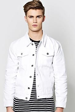 White Denim Jacket | he wears | Pinterest | Coats Jackets and