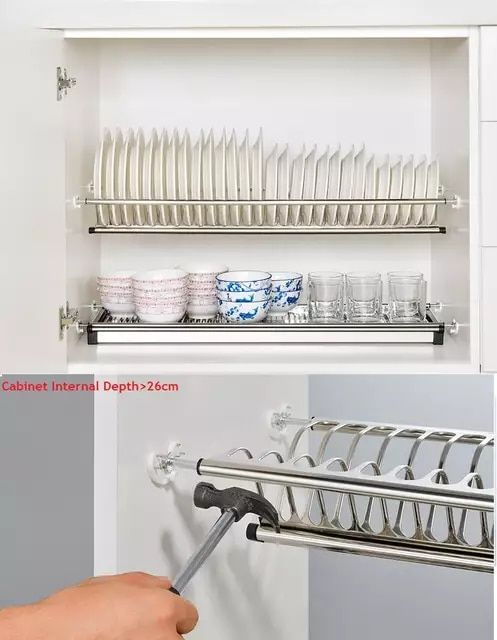 Kitchen Cabinet Plate Organizers Kitchen Small Kitchen Storage Kitchen Cabinet Storage Metal Kitchen Shelves
