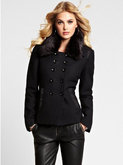 Cheap Black Pea Coats for Women | Coats Jackets and Collars