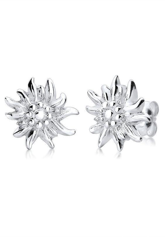 Elli Ohrringe »Ohrstecker Edelweiß *WIESN SPECIAL* Silber« für 19,90€. Elegante Ohrringe aus 925er Sterling Silber bei OTTO