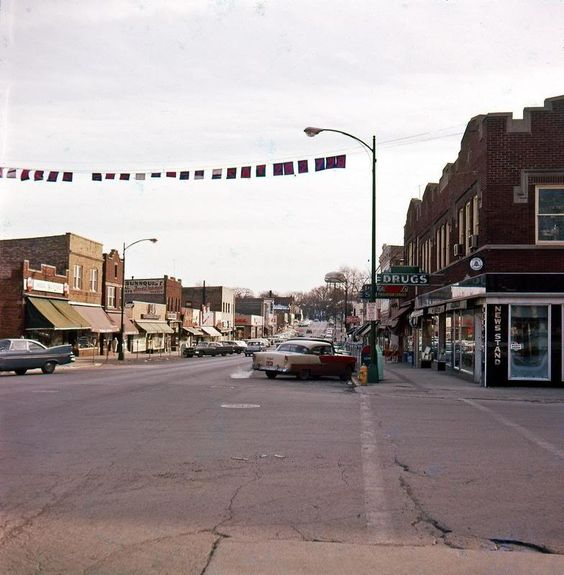 City Of Morton Illinois: Main Street Downers Grove In The 50's