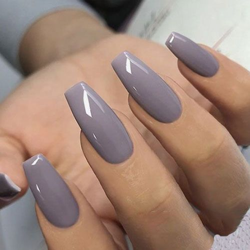 45 Best Fall Nail Polish Colors Cute Trending Ideas For 2020 In 2020 Solid Color Nails Fall Acrylic Nails Best Acrylic Nails