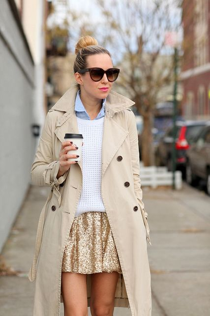 Love this preppy layered look.: