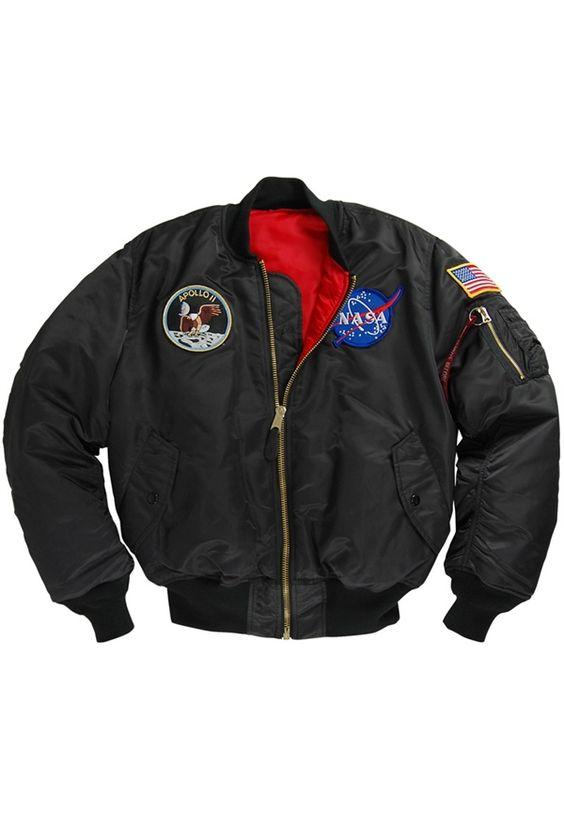 Alpha Black Apollo MA-1 Flight Jacket