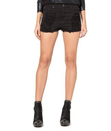 ELLUS - COLOR DENIM (HW) ET.COURO | Shorts | Mulheres