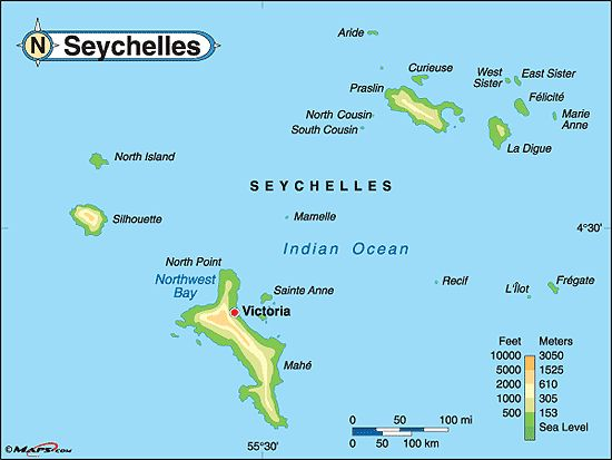 seychelles map Google Search Places I would like to travel