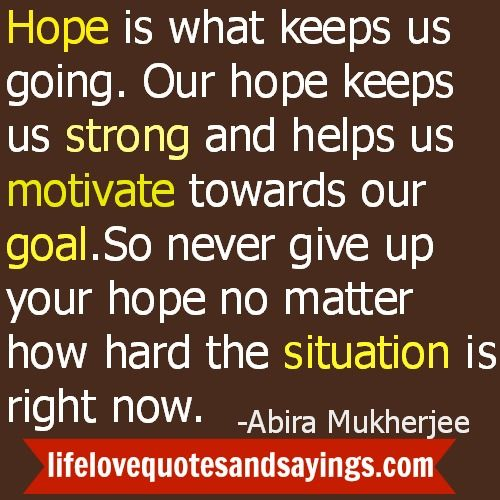 Never Give Up Love Quotes Sayings: Hope Pictures And Quotes