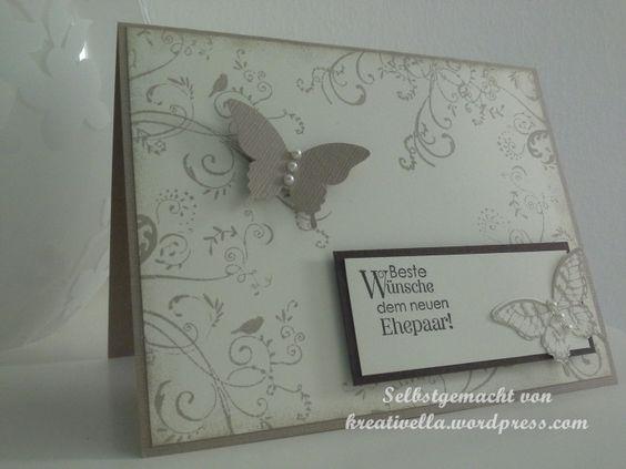 Stampin' Up! - Hochzeitskarte  Perfekte Pärchen, Papillon Potpourri, eleganter Schmetterling Stanze  Schnörkel von ARTEMIO