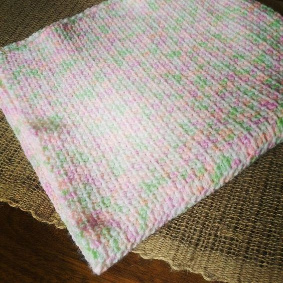 Lightweight Baby Afghan Crochet Pattern : Lightweight crocheted baby blanket just listed! Etsy ...