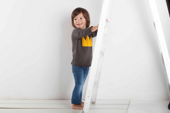 Jersey tricot corona niño niña fashion kids moda infantil