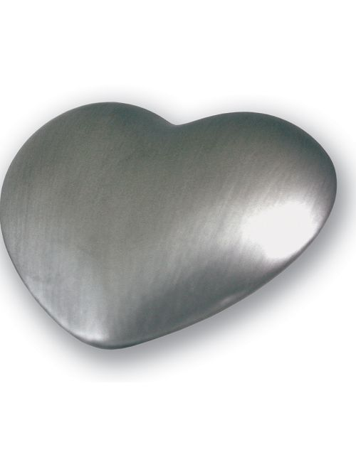 silver heart urn