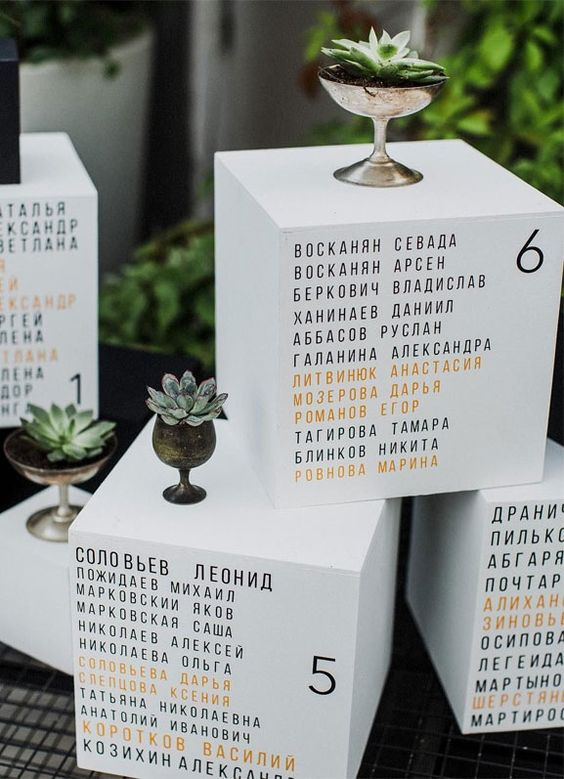 57 Insanely Creative Escort Cards And Seating Displays 1 - Fab Mood | Wedding Colours, Wedding Themes, Wedding colour palettes