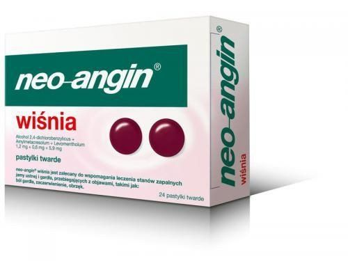 NEO-Angin Cherry x 24 pills, local anesthetic