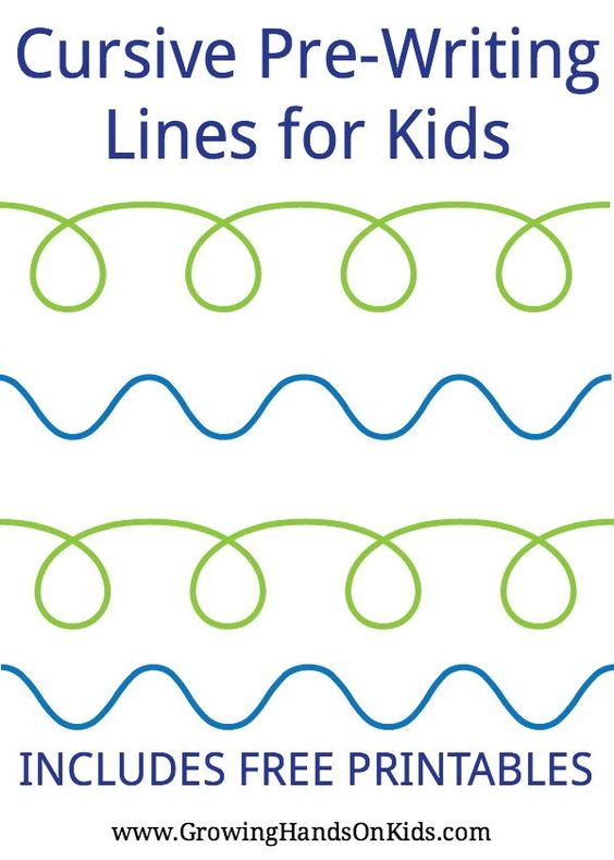 Cursive Pre-Writing Lines & Strokes for Kids – Free Printable ...