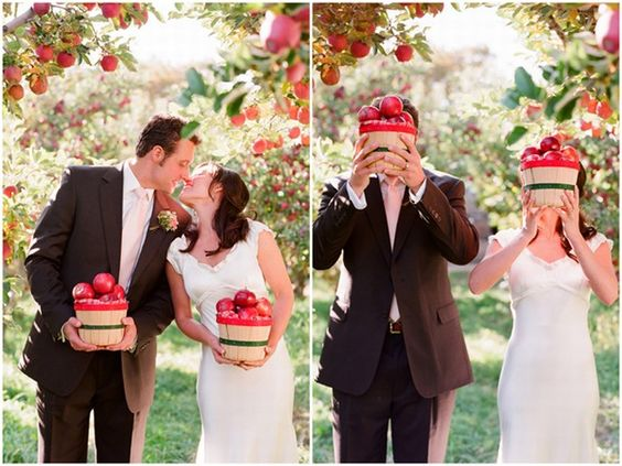 inspiration mariage pomme rouge automne