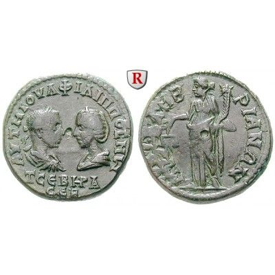 NEW  Römische Provinzialprägungen, Thrakien, Mesembria, Otacilia Severa, Frau Philippus I., Bronze, f.ss/ss: Thrakien, Mesembria.… #coins