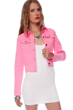 neon pink jean jacket - should i buy it? hmm | Fashion | Pinterest ...