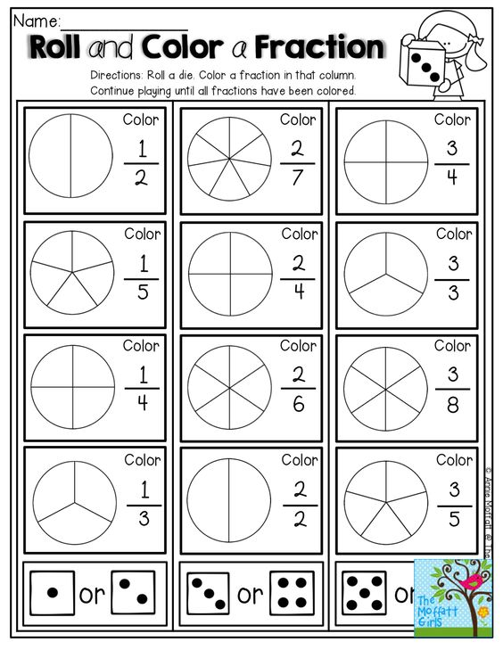 Roll and Color a Fractions!  SO many FUN, hands-on and interactive ways to learn simple fractions!
