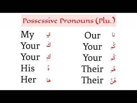 Easy Arabic Lesson 30 Plural Possessive Pronoun Ibn Sabah Youtube Arabic Lessons Learn English Words Possessive Pronoun