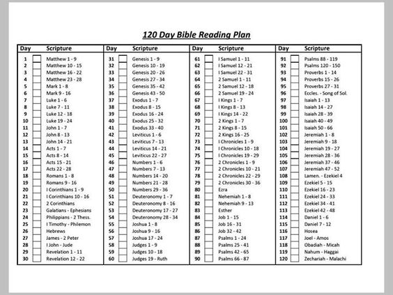 120 day bible reading plan bible verse pinterest the for 120 day calendar template