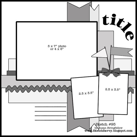 3 Photo 12 x 12 Layout    I've used this one umpteen times, including on my favorite page I've ever done!
