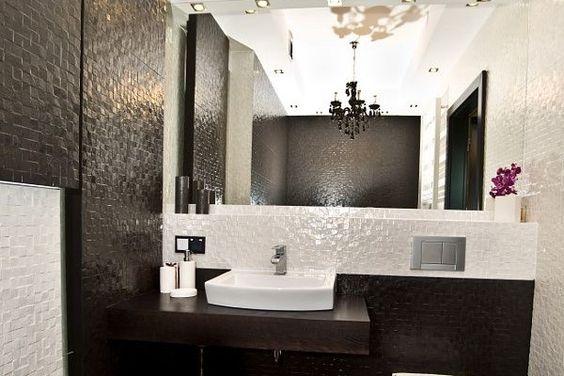 Lampy w stylu glamour Łazienka Pinterest Glamour - badezimmer 7m2
