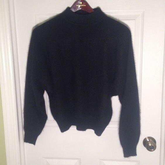 """Rafaella Pullover Sweater Rafaella Super Soft Pullover Sweater 45% Angora Rabbit Hair 40% LambsWool 15% Nylon. Collar 6"""". Waist 13"""". Collar to waist. 22 1/2"""".  Sleeve to collar 28"""". Rafaella Sweaters Crew & Scoop Necks"""