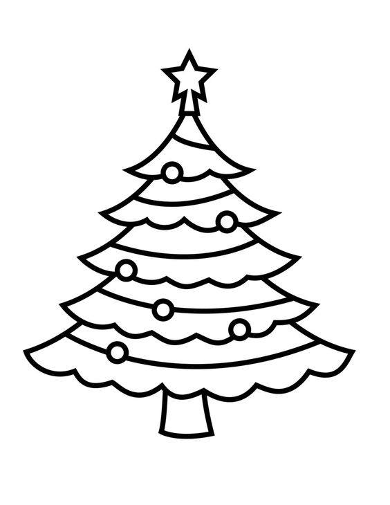 Christmas Tree Coloring Pages http://procoloring.com/christmas-tree-coloring-pages/