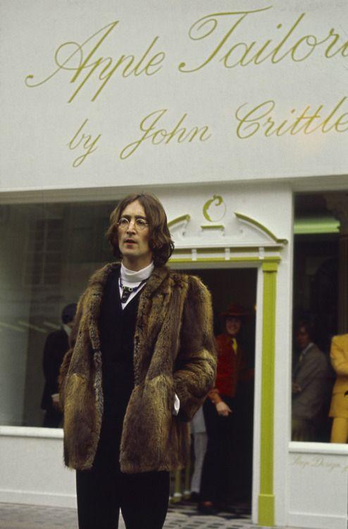 foreverblog-world:  John Lennon  Apple Tailoring, 1968