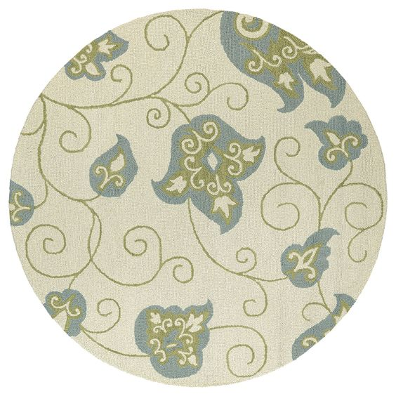 Kaleen Rugs Zoe Whimsy Ivory Hand Tufted Rug