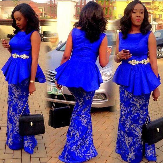 A bright burst of blue! #AsoEbi: