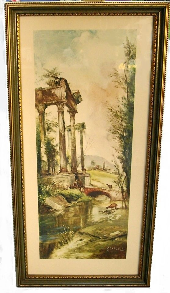 Vintage Pastoral Scene Art Print  GC Chiabert
