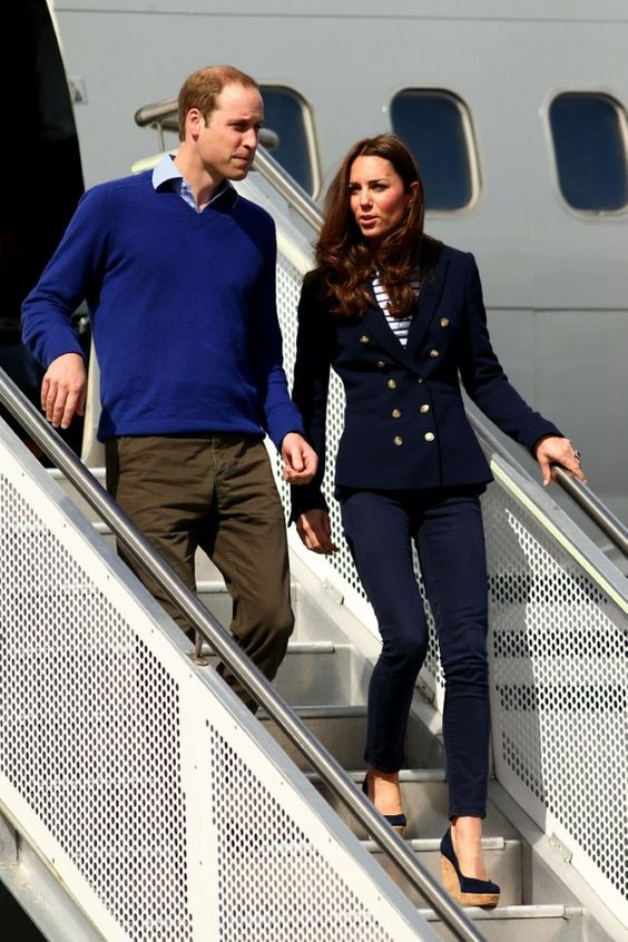 Dress down: Prince William and Kate Middleton arrive at the Royal New Zealand Air Force's base in Whenuapai, near Auckland