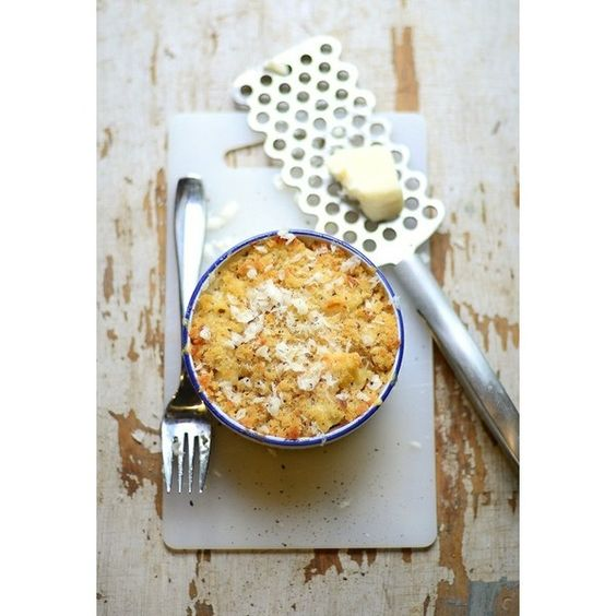 Baked Macaroni Cheese ❤ liked on Polyvore