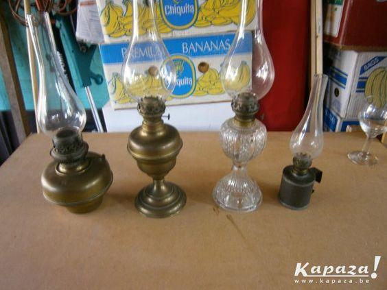 Lotje van 4 olielampen, Verlichting, Mortsel | Kapaza.be