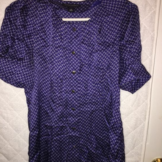 Banana Republic sz small Royal Blue Small and Blue with white striping / button up Banana Republic Tops Button Down Shirts