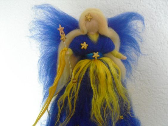 ooak needle felted fairy doll SWEET DREAMS by LittleWonders4u, $19.00