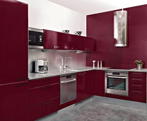 wandfarbe küche rot weiße schrankfronten mintgrün glas - glas spritzschutz küche