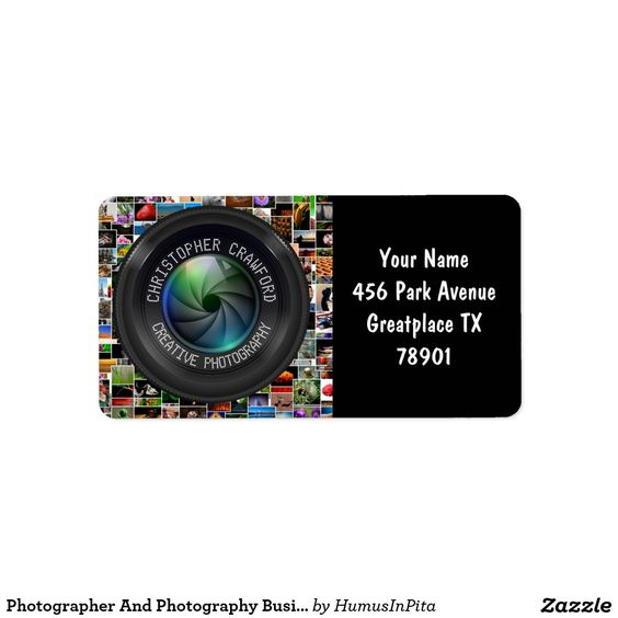 Photographer And Photography Business Camera Lens Label