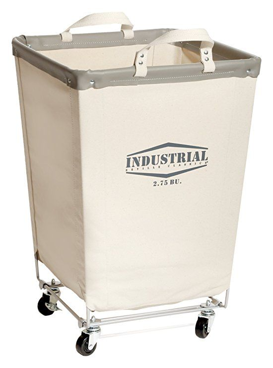 Seville Classics Commercial Heavy Duty Canvas Laundry Hamper With