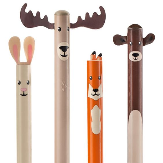 Nestled atop of these unique pencils are a darling pack of playfully camouflaged adorable critters. They will surely inspire you to let our ideas run wild for all to read!