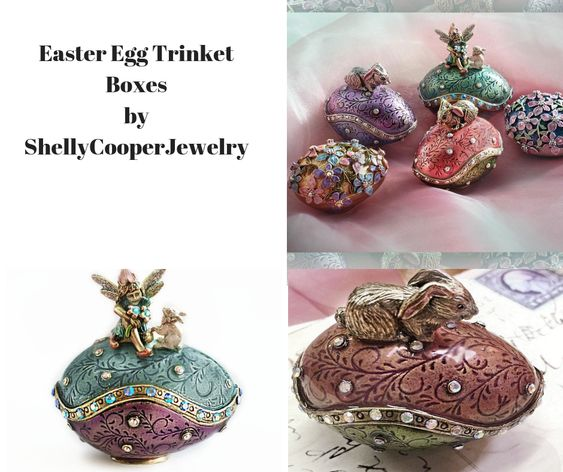 Easter Egg Trinket Boxes by ShellyCooperJewelry