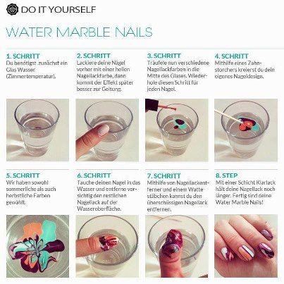 Marmorierte Fingernägel
