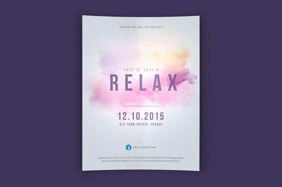 Relax Flyer PSD Template by Martz90 Shop on Creative Market