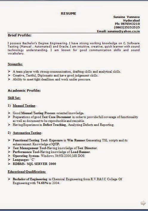 Great How To Make An Awesome Resume Sample Template Example Of ExcellentCV /  Resume / Curriculum Vitae With Career Objective U0026 Work Experience For B.Eu2026 Regarding How To Make An Awesome Resume