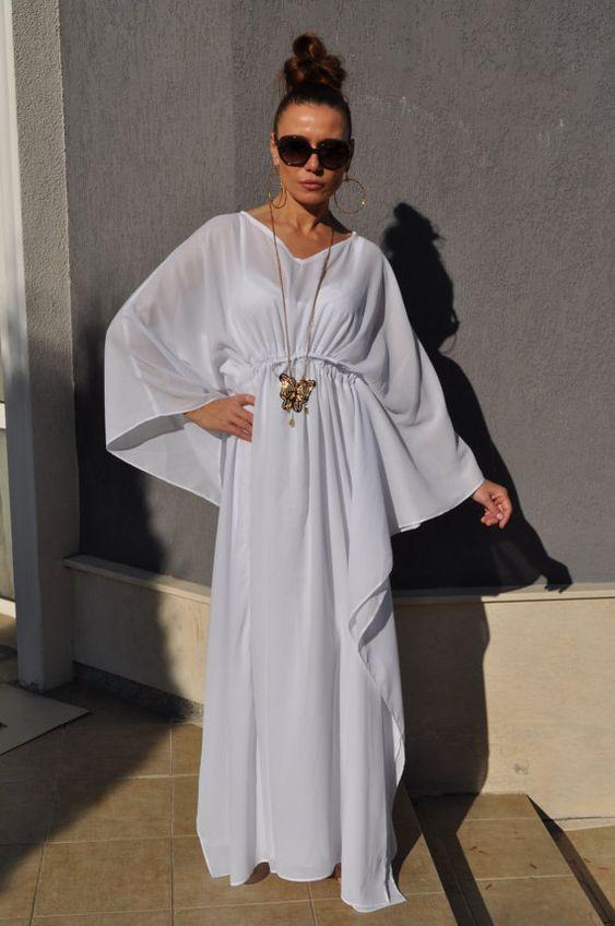 Maxi white for White kaftan wedding dress