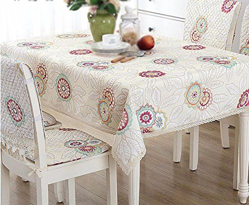 Wfljl Simple Style Decoration Tablecloth Cotton Coffee Dining